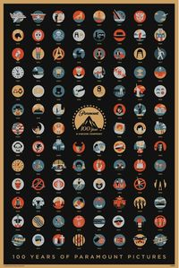 100 Years of Paramount Pictures in glorious technicoloured icons, designed by Gallery 1988