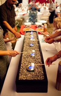 Smores bar, love this for inside winter nites!