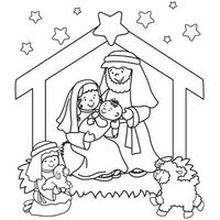 Nativity Coloring Page . Download PDF