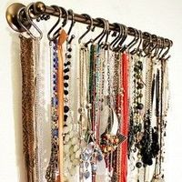 jewelry holder - towel rod and shower curtain hooks
