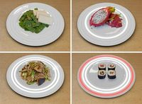 a plate that detects radiation in food!