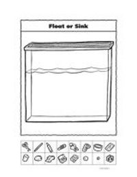 float or sink worksheet preschool items juxtapost. Black Bedroom Furniture Sets. Home Design Ideas