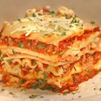 Filling and satisfying lasagna with sausage, ground beef and three types of cheese.