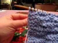 Video tutorial on knitting a nice edge to blankets, etc