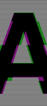 Glitched Helvetica by Mauro De Donatis