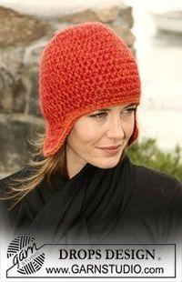 Crochet DROPS hat with ear flaps free crochet hat pattern