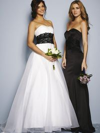 Black and white wedding dress from Very.co.uk