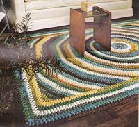 Vintage Pattern to Make A Crocheted Shaker Design Rug,60X100 Inches