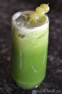 Cucumber, honey dew melon, green grapes, and spinach