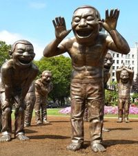 A-maze-ing Laughter, artist Yue Minjun, photographer Ted Topping, location Vancouver