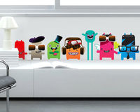 Freaky Monsters wall decal in vinyl decal for home wall decoration.