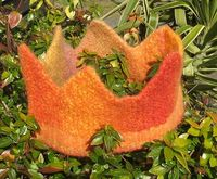 knit felted crown - for the princess in all of us....