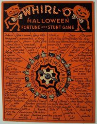 Whirl-O Halloween Fortune and Stunt Game. Drinking game??