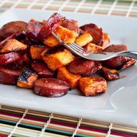 BBQ Sausage and Sweet Potatoes