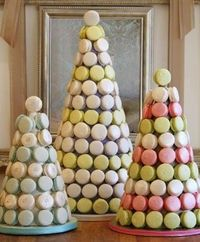 macaron wedding cake by Bobbette and Belle in Toronto