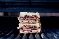 STEAK & POTATO BARBECUED GRILLED CHEESE 6