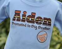 Personalized Kids Pregnancy Announcement Shirt / Big Brother to Be