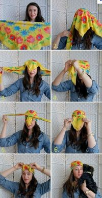 how to tie a turban with a silk scarf