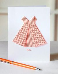 Make an origami dress card | How About Orange