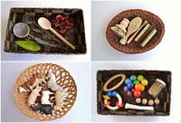 Montessori inspired: discovery basket ideas for tots (pre toddlers).