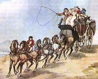 The public transport at the beginning of 17th century was almost non-existent.