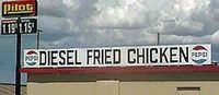 as opposed to unleaded fried chicken....