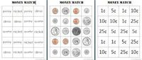Money Match Activity | Counting Coconuts