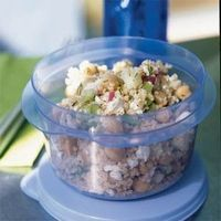 Lemon Garbanzo Salad with Feta