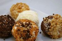 Chocolate and Nut Dipped Frozen Yogurt Balls