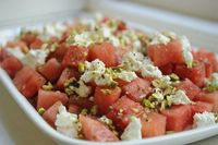 ++ watermelon & goat cheese salad w/ a verbena infused vinaigrette