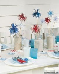 fireworks table display for memorial day or july 4th!