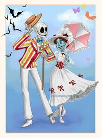 Jack & Sally, Mary Poppins & Bert. 2 of my favorite couples combined!