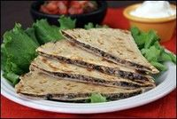 Hungry Girl Mushroom Quesadilla