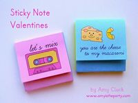 Sticky note Valentines