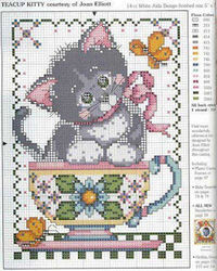 cross stitch cat pattern