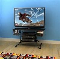 Great website with lots of reasonably priced items for your college student or even for small living spaces~ TV Stand - Black