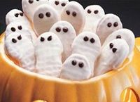 Nutter Butters dipped in white chocolate for Halloween