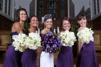 I like how the bouquets are opposite the dresses