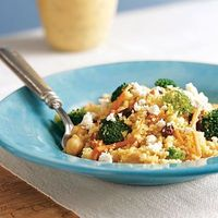 Curried CousCous with Broccoli & Feta
