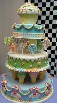 Birthday Cake birthday-party!!! My dream cake!!! I think I might have to make this for myself!!! ;) lol