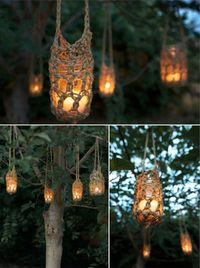 Crochet rope lights. Beautiful, natural, warm ...