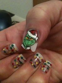 Grinch, hand painted!