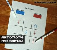 Alphabet and Sight Word Tic-Tac-Toe printables. Fun way to practice writing.