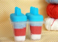 Amigurumi ice pops by Le Petit Pot.