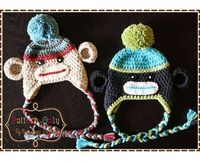 love the teal, gray, lime sock monkey. Add to shop when have a break... sans the pom pom