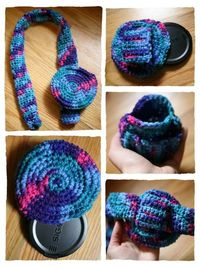 lens cap holder - free crochet pattern