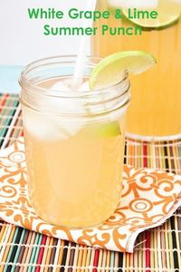 Sweet Treats and More: White Grape & Lime Summer Punch