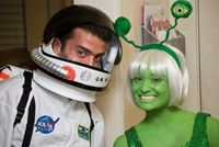 Astronaut and martian