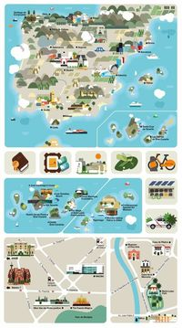 A touristic Spain map by Hey Studio