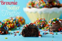 No Bake Brownie Batter Truffles!!!